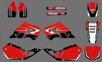 0517 NEW STYLE Red TEAM DECALS GRAPHICS BACKGROUNDS For CR125 CR250 1997 1998 1999