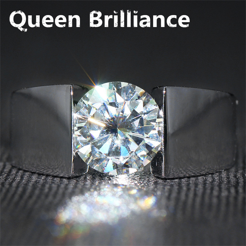 Simple fashion 3 carat ct engagement wedding gem stone for Men s 1 carat diamond wedding bands