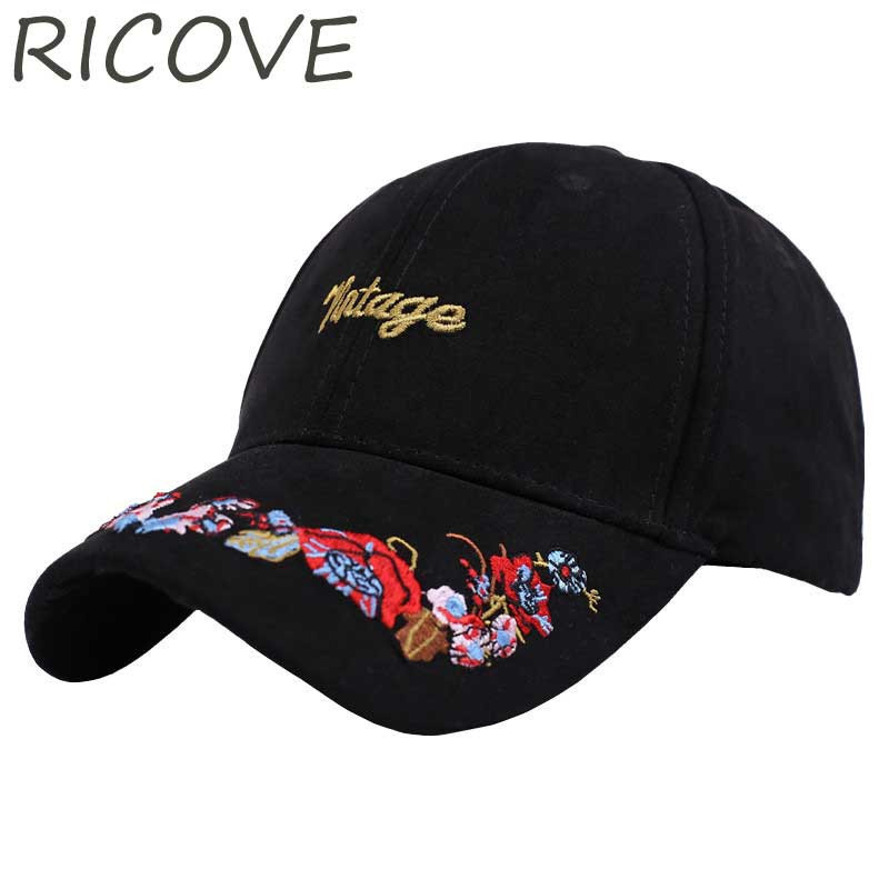 Vintage Snapback Hats >> Us 7 36 45 Off Suede Baseball Cap Women Vintage Snapback Hats Letter Floral Embroidery Dad Hat Fashion Casual Spring Trucker Caps Adjustable In