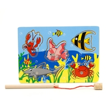 Board Jigsaw Fishing-Toy Magnetic Wooden Children for Juguetes Puzzle