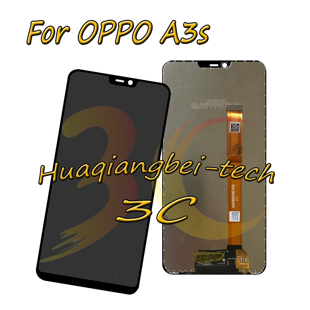 New 6.2 Black For Oppo A3s CPH1805 Full LCD DIsplay + Touch Screen Digitizer Assembly For OPPO A5 100% TestedNew 6.2 Black For Oppo A3s CPH1805 Full LCD DIsplay + Touch Screen Digitizer Assembly For OPPO A5 100% Tested