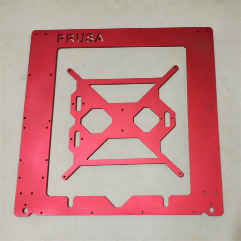 Reprap Prusa i3 rework 6mm Aluminium Frame kit red color Anodized 6mm aluminm alloy RepRap Mendel 3D Printer 1set aluminium alloy prusa i3 mk3 frame kit with m5 tapped extrusions 6mm thickness