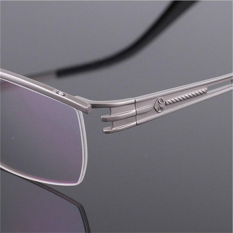 Hochwertigen marke titanium brille brille halb rahmen myopie männer ...