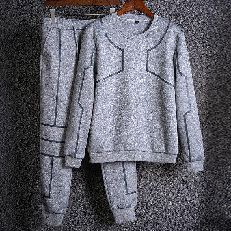DAOKFPO Men s Sportswear 2017 Autumn Winter Casual Men Long Sleeve Sweatshirts And Long Pants Two