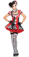 Halloween Women Sexy Party Costumes 6255 Sexy Free Size Clown Costumes Dress For Women