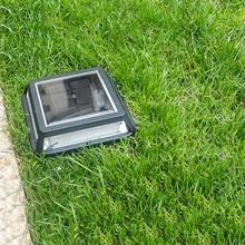 New Design 12.4cm Solar Power Led Outdoor Path Step Driveway Light Garden Street Yard Lamp Solar  Ground Floor Underground Led