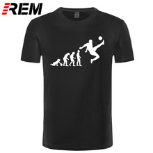 REM Football Evolution T shirt men Evolution Futbol T-shirt hombre soc