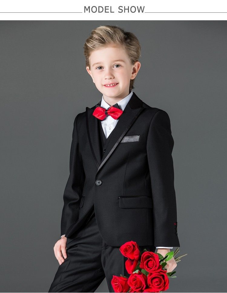 Boys Suits 3 Piece Wedding Suit Prom Page Boy Baby Formal Party 3 Colours lotte kinder happy hippo