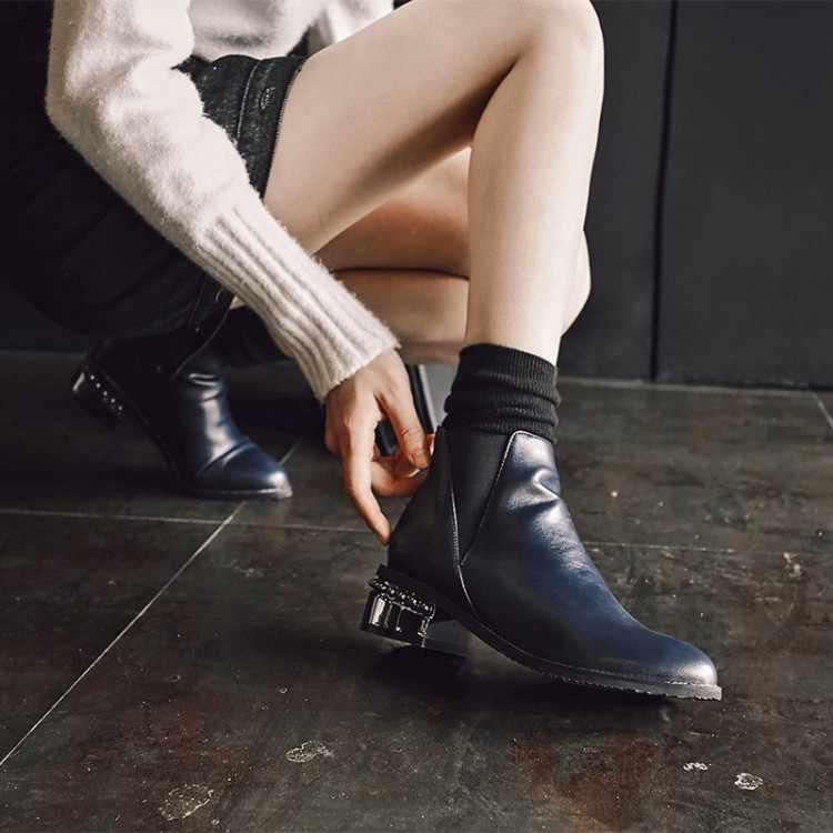 Große Größe 11 12 13 14 15 16 17 Wies hufeisen ferse, starke ferse, mittlere ferse, plain elastische seite zipper, kurze Chelsea stiefel