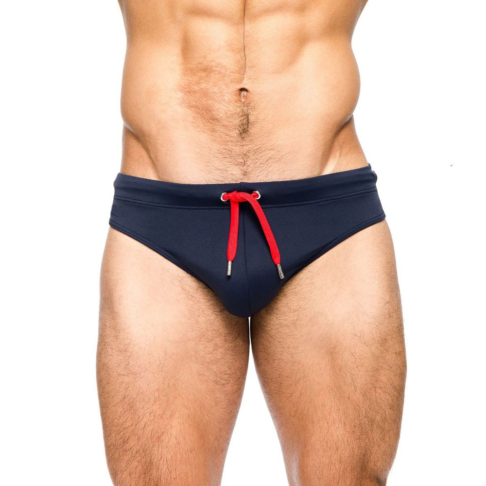 Topdudes.com - Sexy Low Waist Swimming Briefs with Push-up Pad