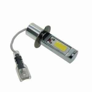 Image 2 - 2PCS Super Bright H3 LED Fog Light Bulb Yellow White 2000 Lumens 3000K 6500K LED COB Auto Car LED Fog Lamp Replacement 12V 24V