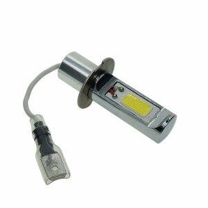 Image 2 - Супер яркий светодиодный противотуманный светильник H3, 2 шт., желтая, белая, 2000 люмен, 3000K, 6500K, COB, Автомобильный светодиодный сменный противотуманный фонарь, 12 В, 24 В