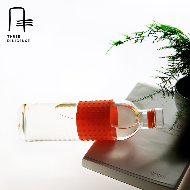 Christmas Red Water Bottles 525ML Portable Business Idea Tumbler Glass Office Portable Travel Tea Cups Coffee Mugs Holder Hook
