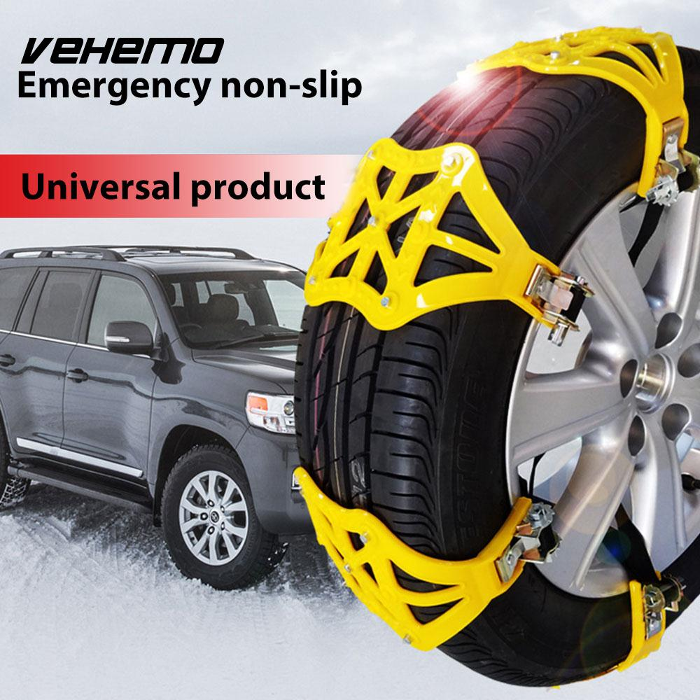 Vehemo TPU Roadway Safety Snow Tire Belt Climbing Mud Ground Snow Chain Universal Anti-Skid Chains Winter Driving