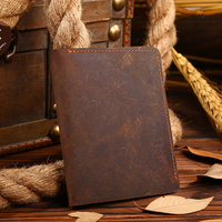 TOP POWER 100 Top Quality Natural Genuine Leather Men Wallets Famous Brand Vintage Male Wallet Card