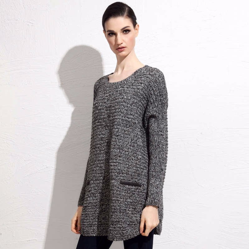 Wool Blends fall mid length sweater 8