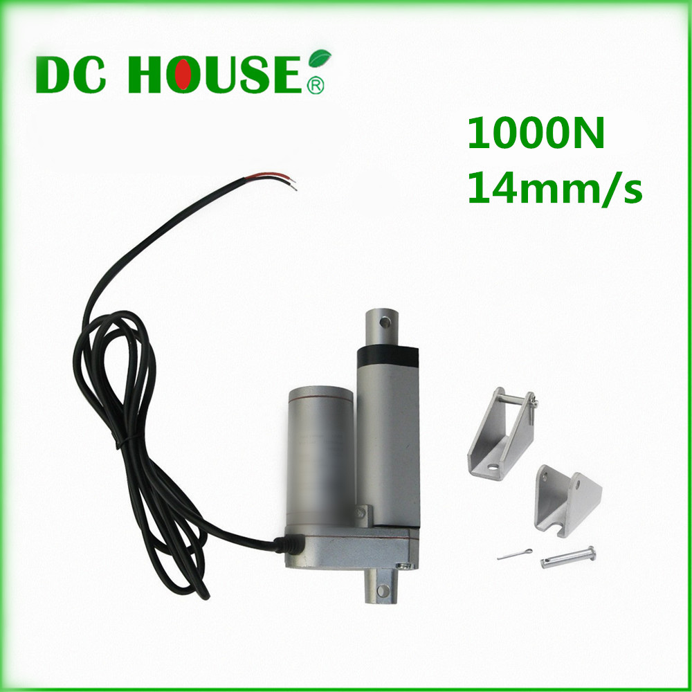 1 PCS 50mm/10inch Stroke Heavy duty DC 12V 1000N Load Linear Actuator multi-function 10 Electric Motor 14mm/s 1 PCS 50mm/10inch Stroke Heavy duty DC 12V 1000N Load Linear Actuator multi-function 10 Electric Motor 14mm/s