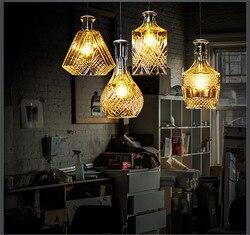 Butelki pojedynczą głowicę droplight współczesnej i zakontraktowane mody osobowości gości jadalnia u nas państwo lampy i latarnie Wiszące lampki Lampy i oświetlenie -