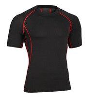 남성 압축 t 셔츠 바디 셰이퍼 건물 짧은 소매 피트니스 크로스 clothing 문 입고 빠른 건조 티셔츠 ma32