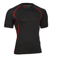 men compression t shirts body shaper building short sleeve fitness crossfit clothing out door wearing quick