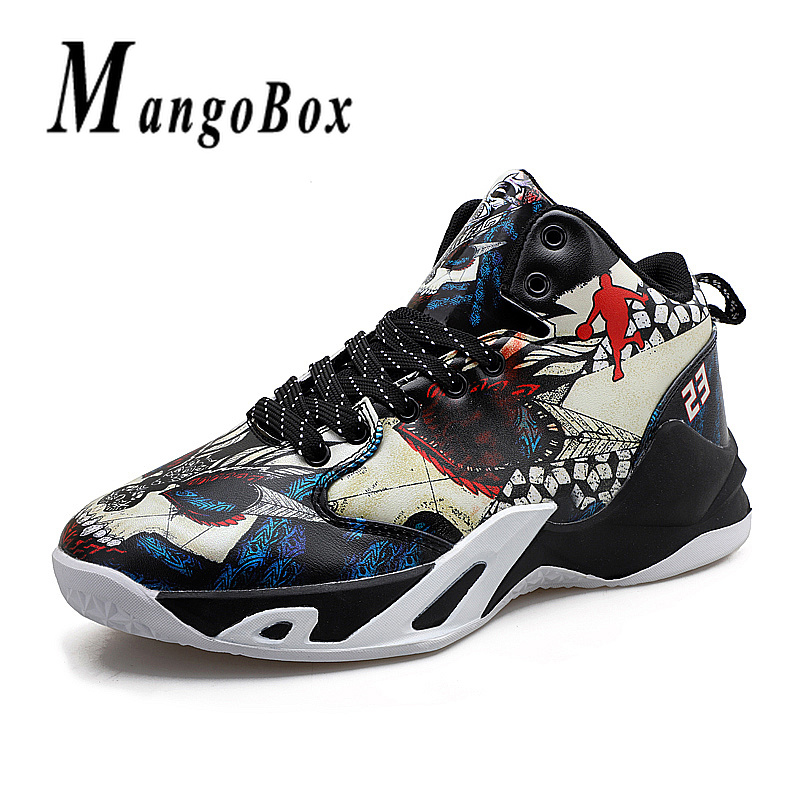 Boy Outdoor Shoes Red Basketball Sneakers Male Pu Leather Sneakers Men High Top Brand Gym Shoes Designer Basketball Shoes Sport 2