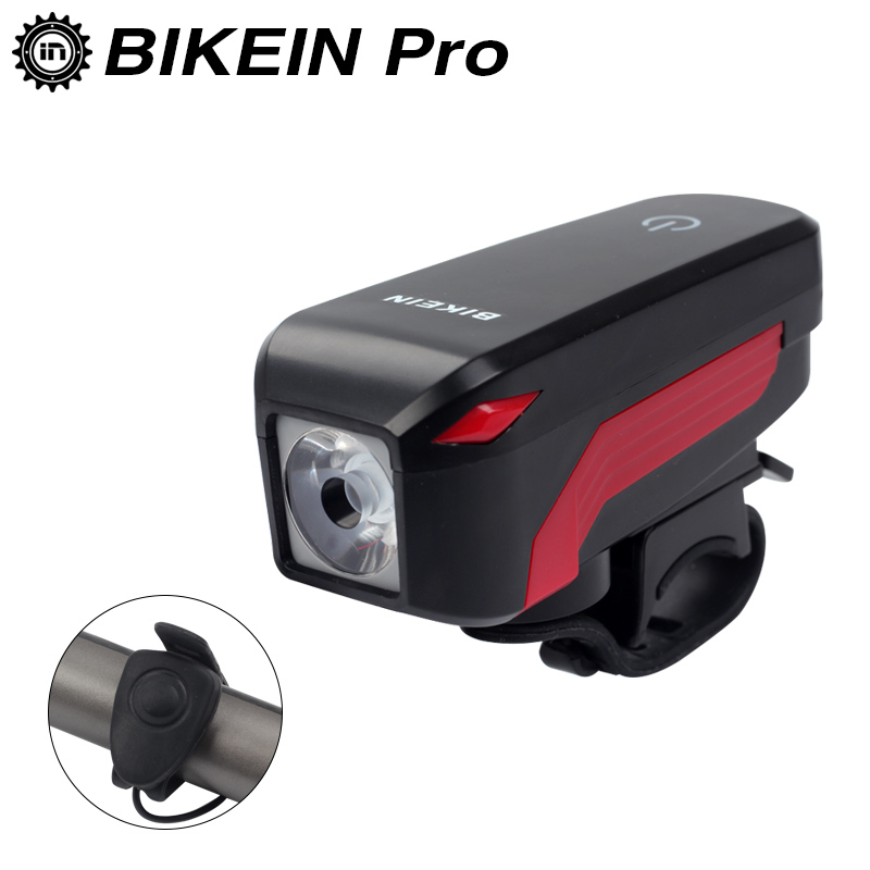 BIKEIN Touch Screen Flashlight & Electric Horn Bell Waterproof Cycling Bike Bicycle USB Rechargeable Headlight LED Lamp Outdoor