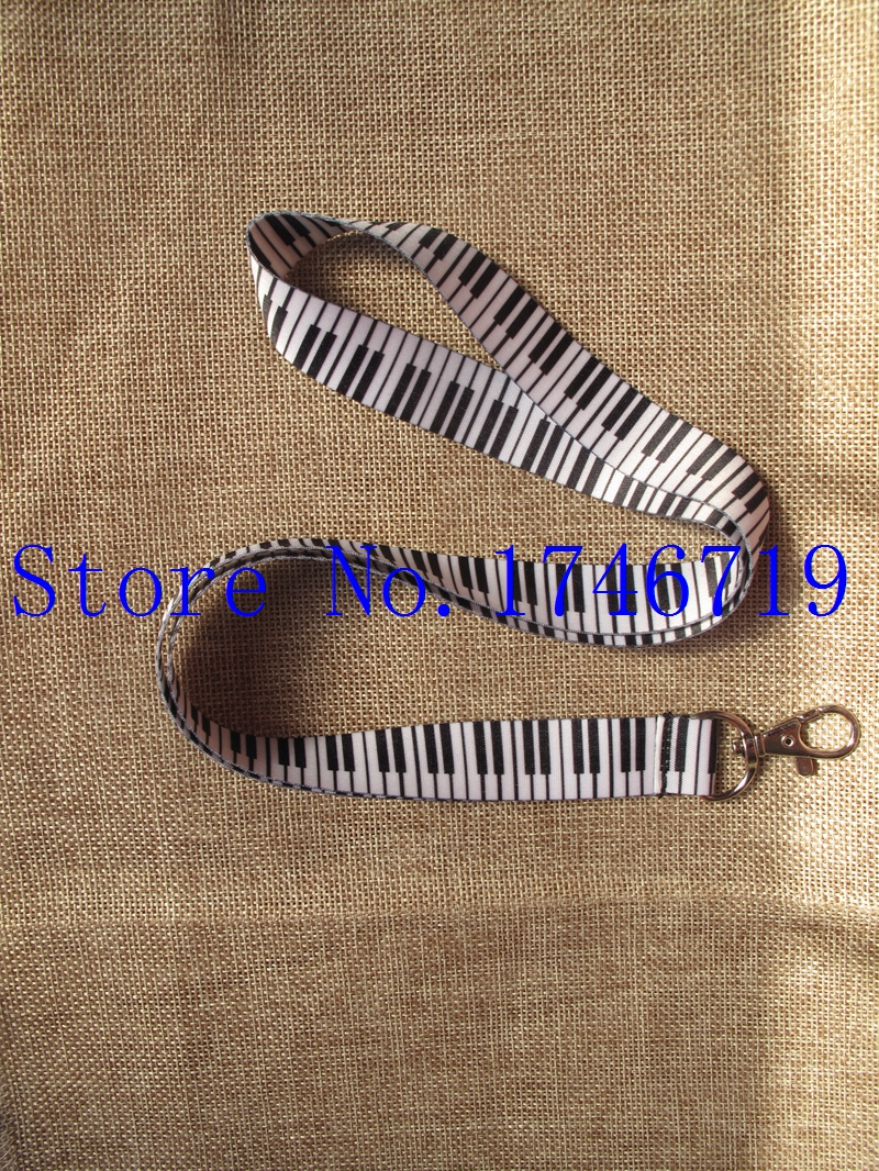 Free Shipping 50 pcs Piano Keyboard Mobile Phone Neck Straps Neck Strap Keys Camera ID Card