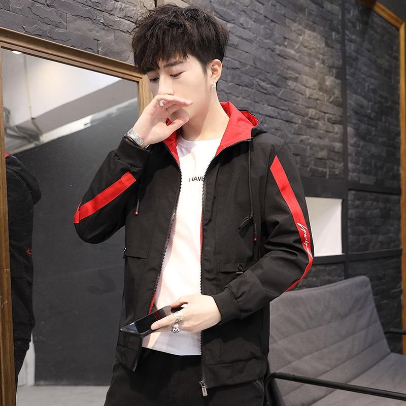 2019 Fashion hip hop jackets men hoodies overcoat patchwork printed homme Jacket male Korean fashion plus size 4XL tops clothes 42