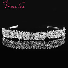 Wedding Tiaras and Crowns Bridal Party Prom Classical Crystal Tiara Headband Prince Crown Hair accessories RE99 silver wedding crwon prince bridal crystal tiara crowns queen bride tiaras princess crowns headband wedding hair accessories