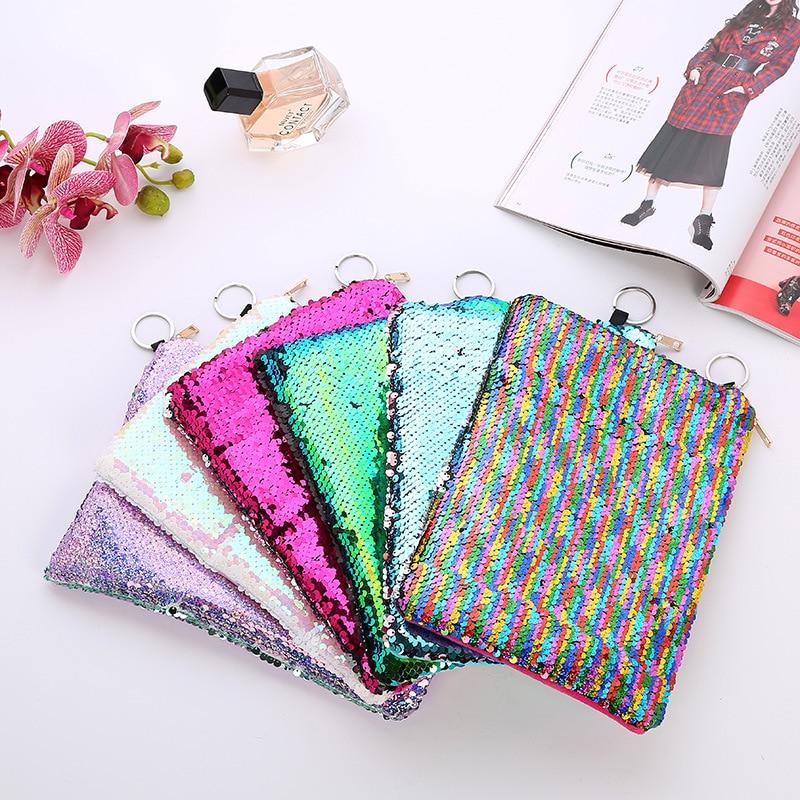 New Brand Travel Mermaid Multicolor Cosmetic Bags Women Girls Handbag Flip Large Capacity Pouch Organizer Case Necessarie