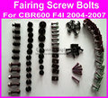 Hot Fairings screw bolt kit for HONDA CBR600F4i 2004- 2007 black fairing dag screws cbr600f4i 04- 07 ,coupling bolt set
