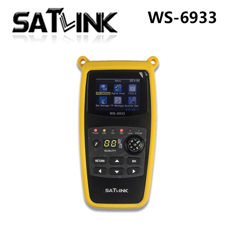 Satlink WS-6933 DVB-S2 FTA C KU Banda de Satelite Finder Medidor 6933 WS6933 com 2.1 Polegada Display LCD 1pc satlink ws 6979 dvb s2