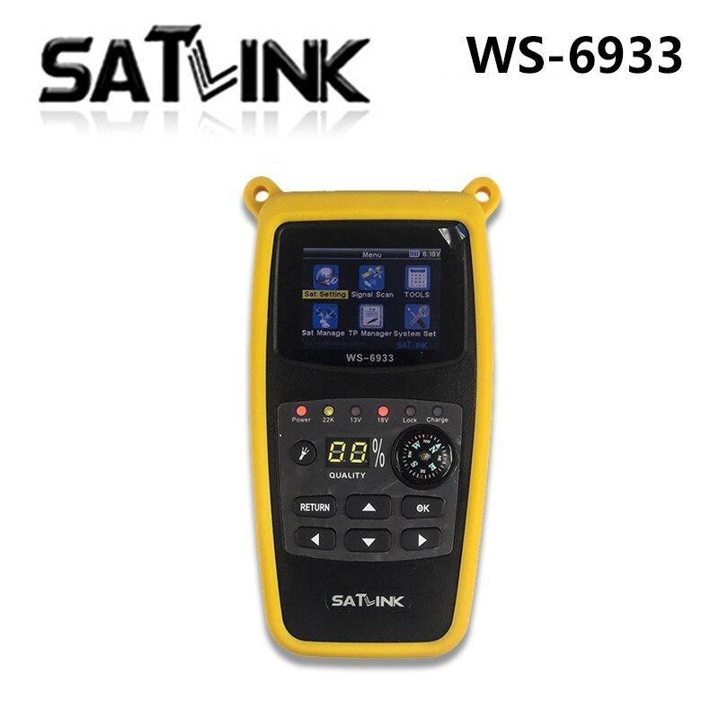 Satlink WS-6933 DVB-S2 FTA C & KU Banda de Satelite Finder Medidor satlink 6933 WS6933 com 2.1 Polegada Display LCD [genuine] satlink ws 6939 dvb s