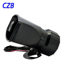 12v 7 sound car alarm Automotive belts horn siren speaker Megaphone 80W megaphone siren fast shipping