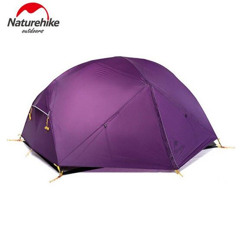 Naturehike Mongar 3 Saison Camping Tente De Pêche Randonnée 20D Nylon Fabic Double Couche Tente Imperméable À L'eau pour 2 Personnes