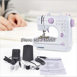 Mini 12 Stitches Sewing Machine Household Multifunction Double Thread Speed Free-Arm Crafting Mending Machine Cloth Hole Punch