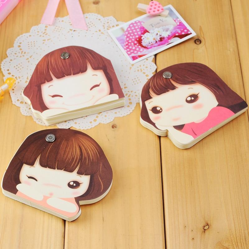 3003 creative cute Korean cartoon girl stationery paper notes memo pocket book 5pcs/set Memo Pad mixed color обогреватель aeg wkl 3003 s wkl 3003 s