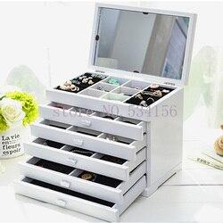 Verbeterde Versie Met Spiegel Hout Sieraden Doos Opslag Gift Display Box Sieraden Lagre Gift Box Verpakking Kist Gift Box