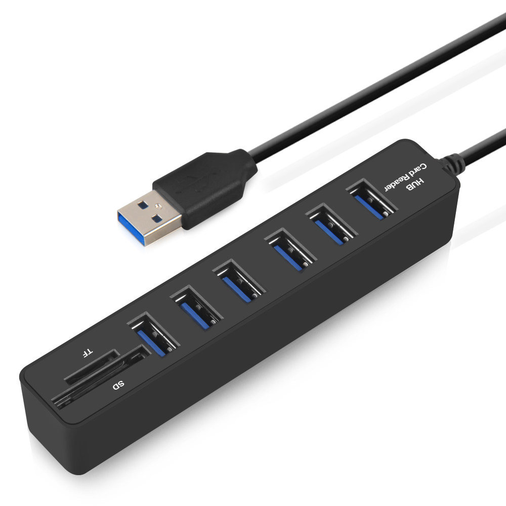 Mini USB Hub 2.0 Multi usb Splitter Combo 3/6 Ports + 2 SD/TF Card Reader High Speed All In One Usb HUB for Laptop Computer usb hub combo 6 ports 2 0 micro card reader sd tf high speed multi usb splitter hub combo all in one for pc computer accessories