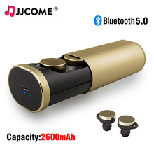 B1 TWS Headset Bluetooth 5.0 Earphone 2600mAh Metal Pull Charger Box Wireless Earphones Handsfree In ear Earbuds  PK i12 i30 tws
