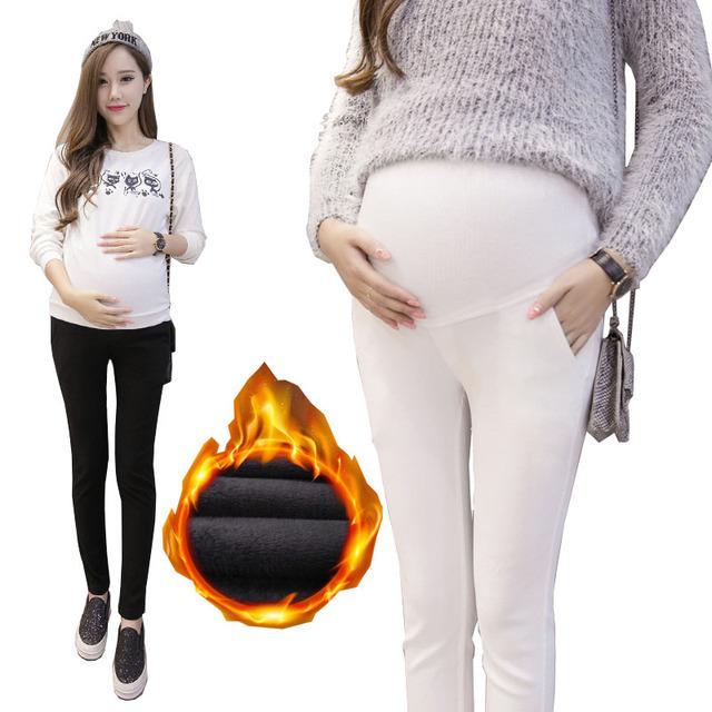 17 estilo! Pantalones de maternidad para Las Mujeres Embarazadas Primavera Verano Embarazo Ropa de Invierno Cálido Algodón Pantalones Ropa Embarazadas