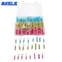 250pcs/Box Assorted Full Insulated Electrical Wire Terminals Crimp Connector Spade GP H001 Connectors Kit Electrical Crimp