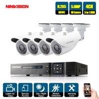 4CH 5MP HD CCTV камера система AHD DVR комплект 5 шт. 5MP ИК ночной Крытый Открытый камеры безопасности P2P комплект видеонаблюдения 2 ТБ HDD