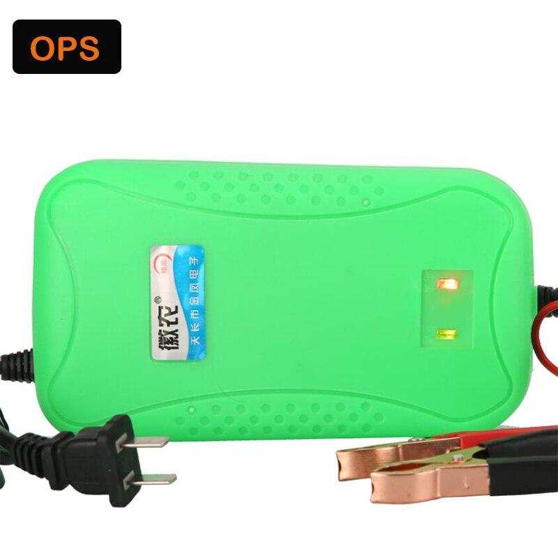New LED Motorcycle/Car/Forklift 12V 6A Lead Acid battery charger for 28AH to 120AH lead acid battery