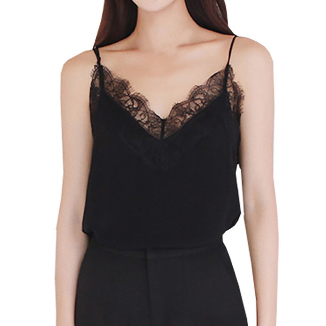 Casual Sexy Lace Sleeveless Vest Shirt Tank Blouse Tops 1