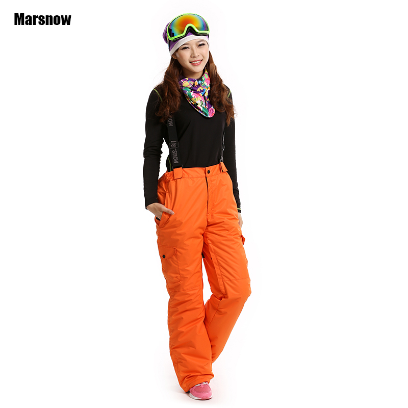 Dropshipping New US famous brand 2 layer outdoor hiking sport winter keep warm pants snowboard waterproof snow pants women ...