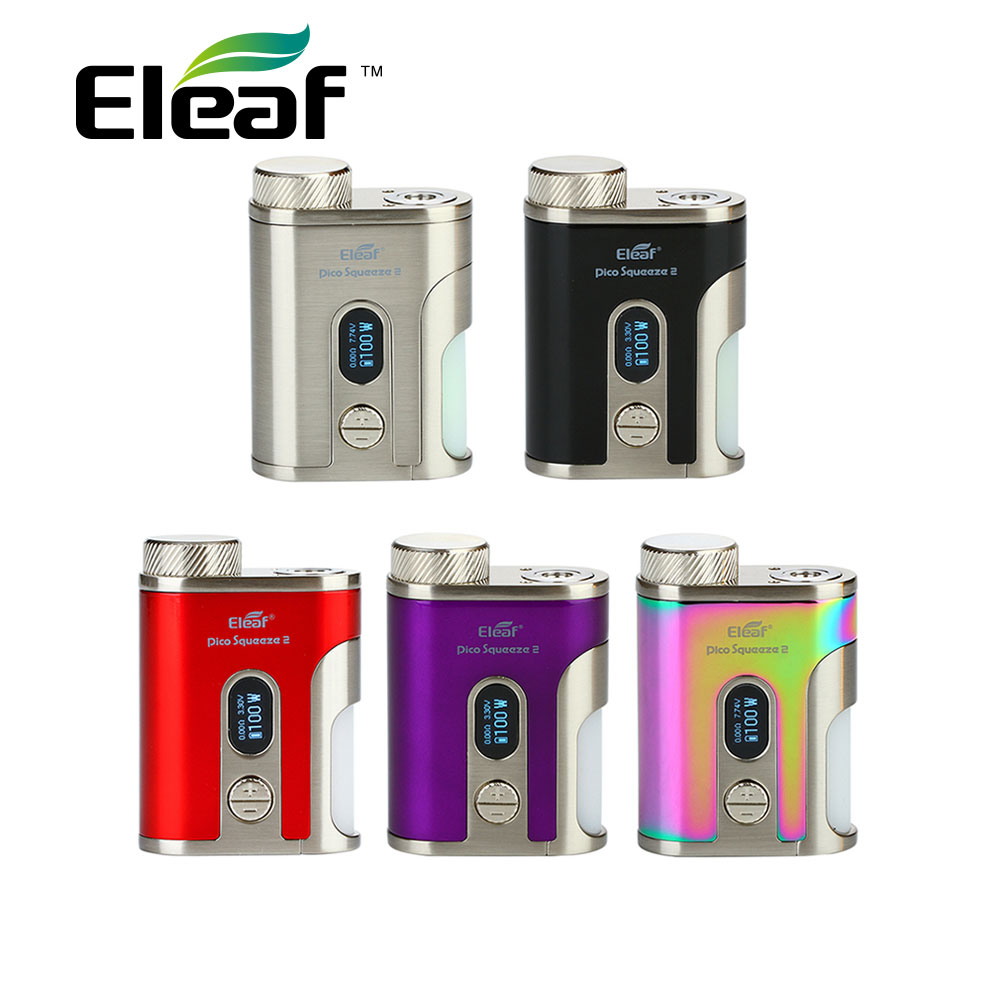 Original Eleaf IStick Pico Squeeze 2 Mod Max 100W Output With 8ml Squeeze Bottle No 18650/21700 Battery Vape Mod Vs Eleaf Invoke