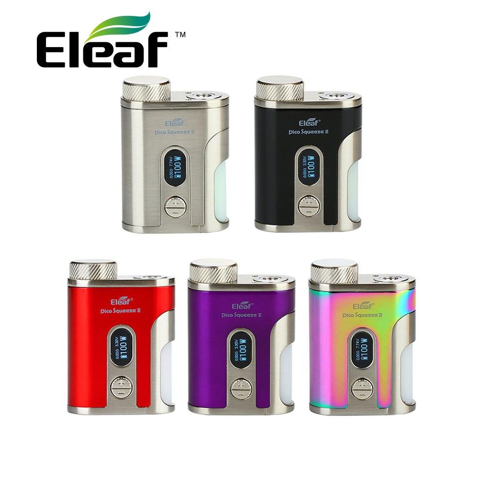 Original Eleaf IStick Pico presser 2 Mod Max 100 W sortie avec 8 ml presser bouteille No 18650/21700 batterie Vape Mod Vs Eleaf invoquer