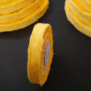 Image 5 - 1 Uds. De paño de pelusa de algodón de 4 12 pulgadas, rueda de pulido de espejo de joyería de oro y plata, Agujero interior de 12mm, 50 capas