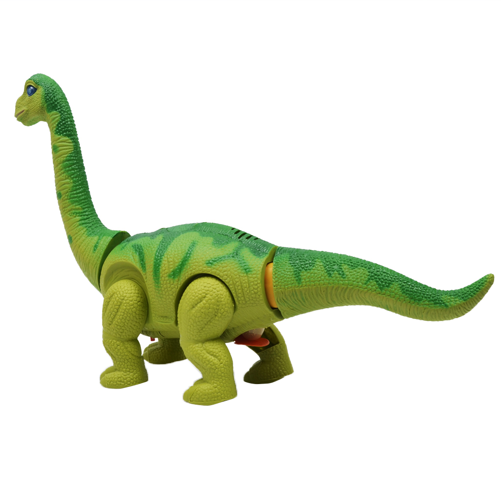 BATTERY OPERATED 3 FACE DINOSAUR BRACHIOSAURS LAYS EGG TOY WALK SOUND GREAT GIFT